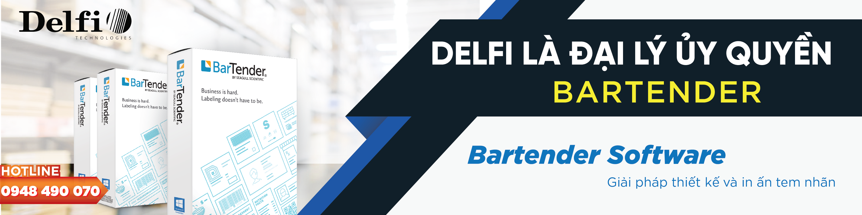 Delfivn is the Authorized reseller of Bartender
